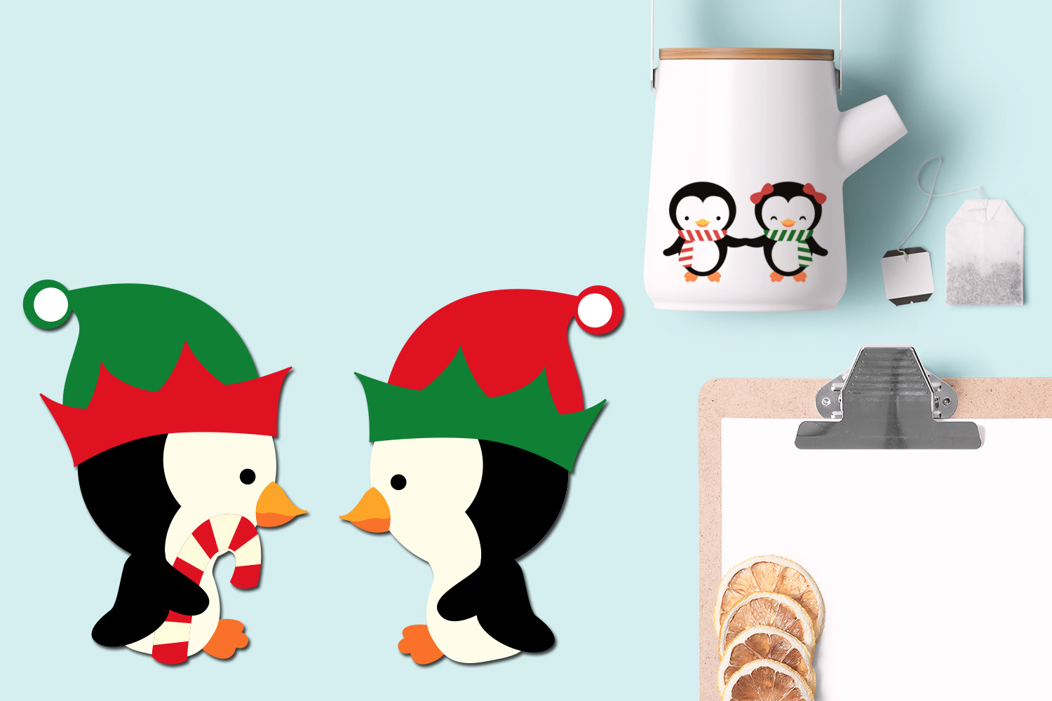Christmas Penguins Illustrations example image 2