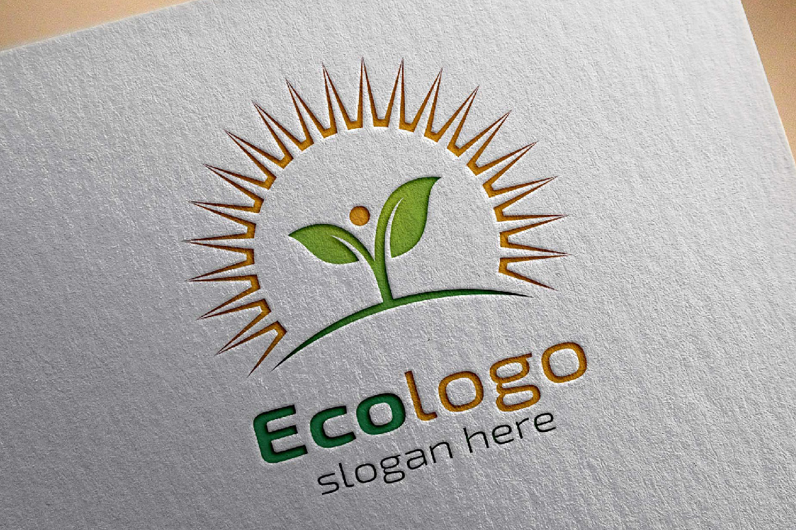 Green leaf Ecology Logo Template example image 2