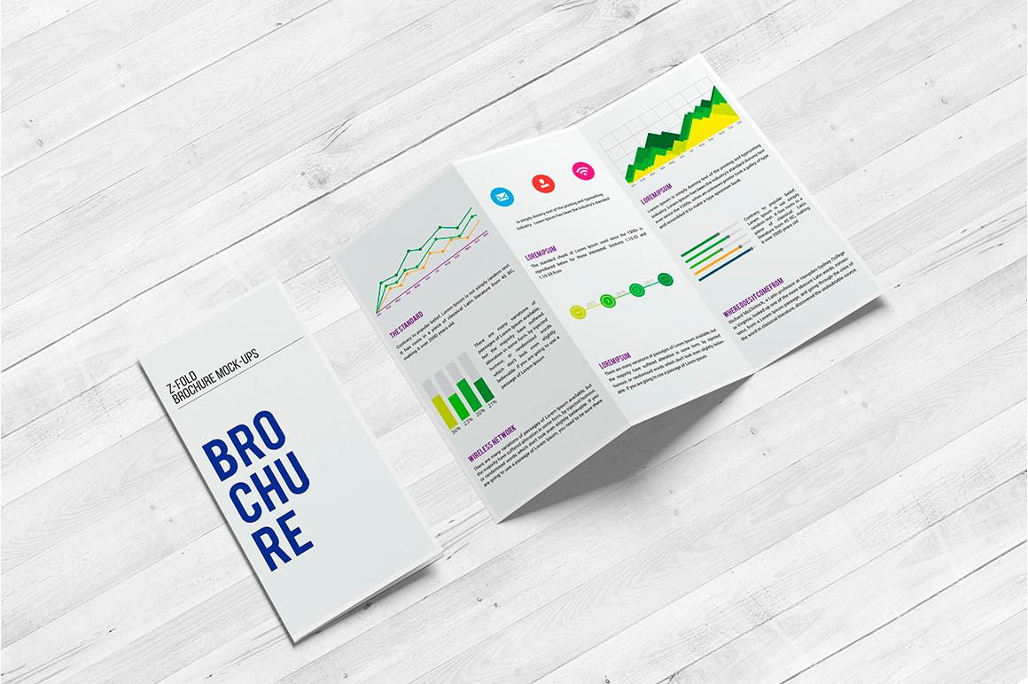 A4 Z-Fold Brochure Mock-Up example image 10