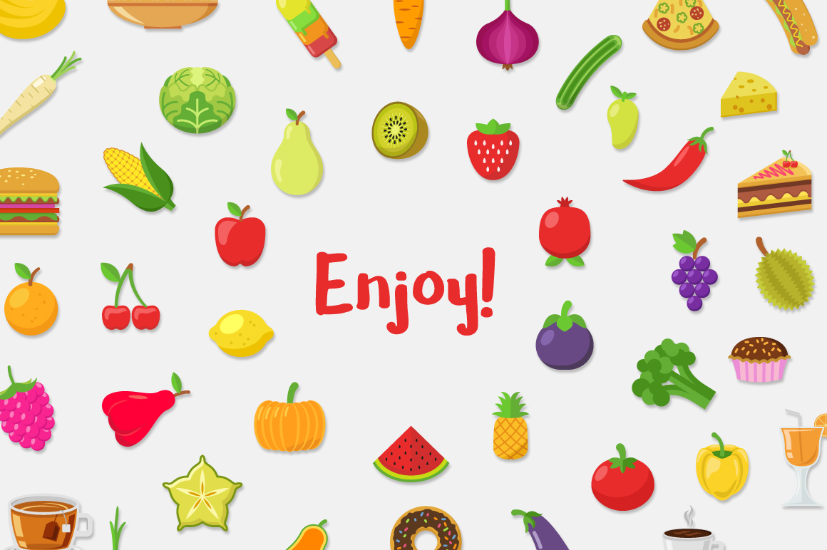 Food Vector Set example image 5