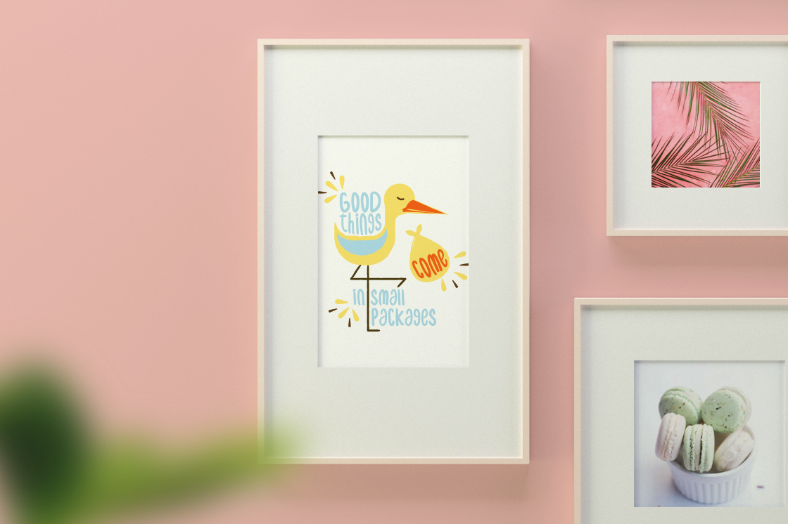 Pregnancy Stork Package - SVG Files for Crafters example image 2
