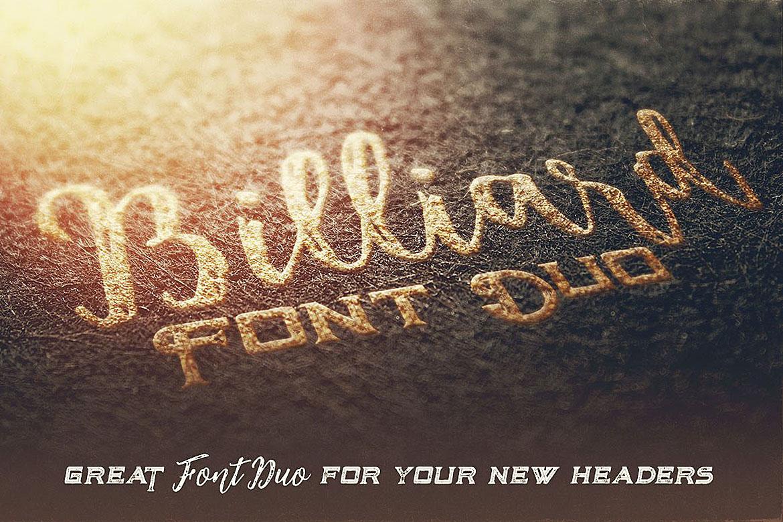Billiard Font Duo example image 5