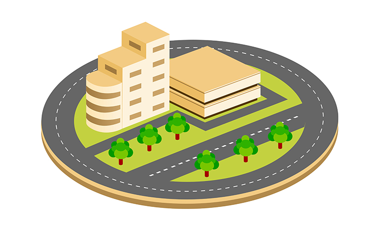 City isometric houses example image 1