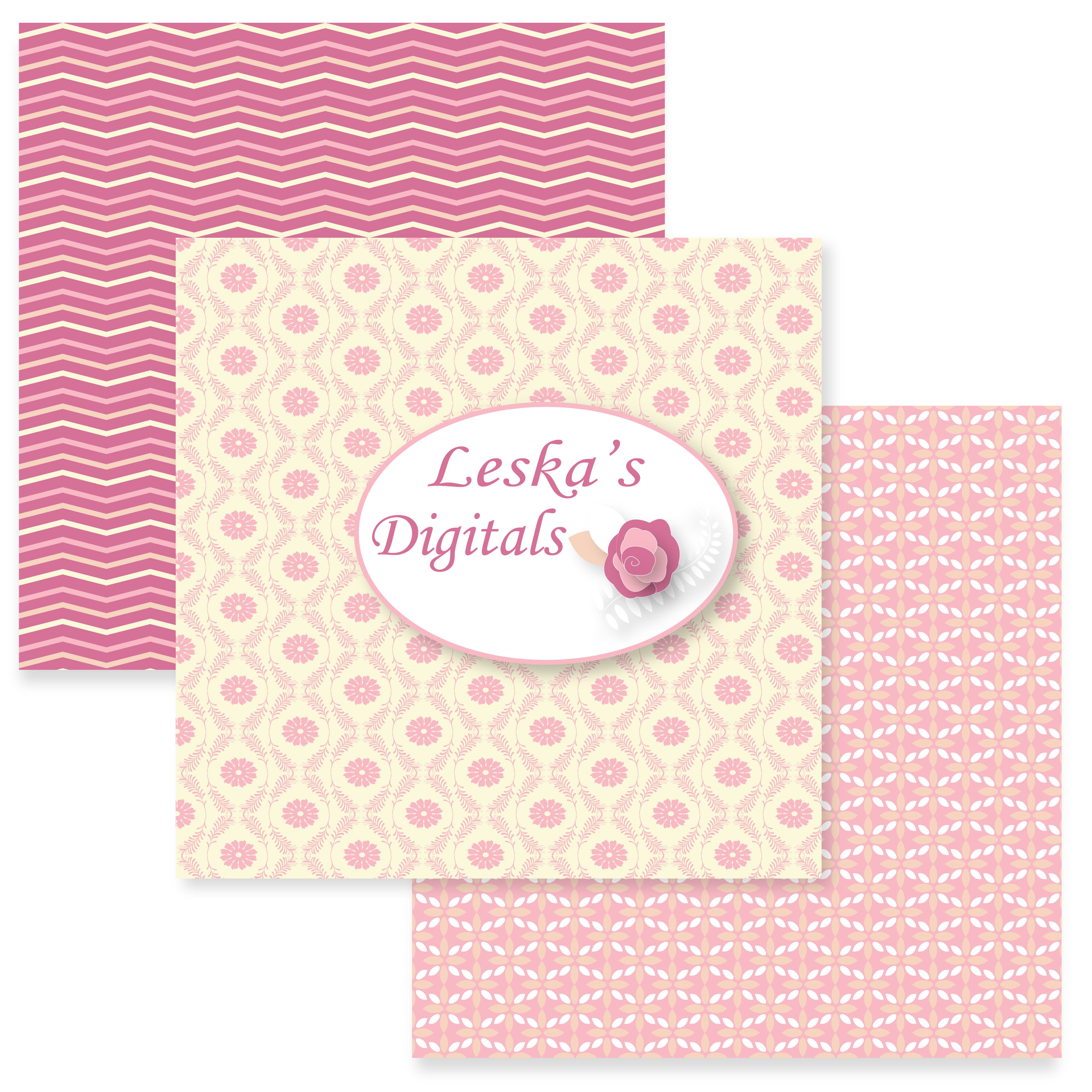 Pink and Yellow Digital Patterns example image 4