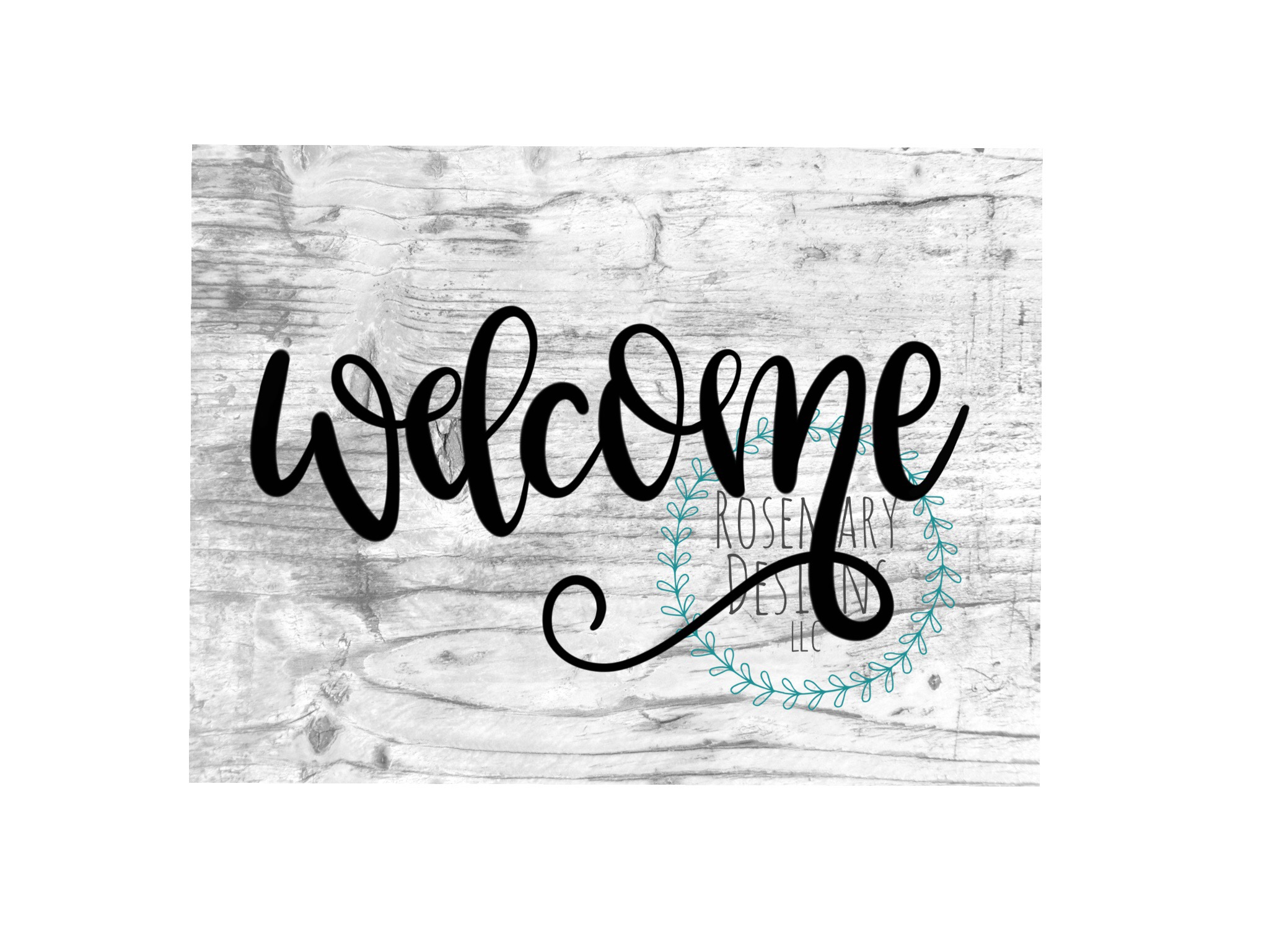 Welcome - Hand lettered SVG example image 1