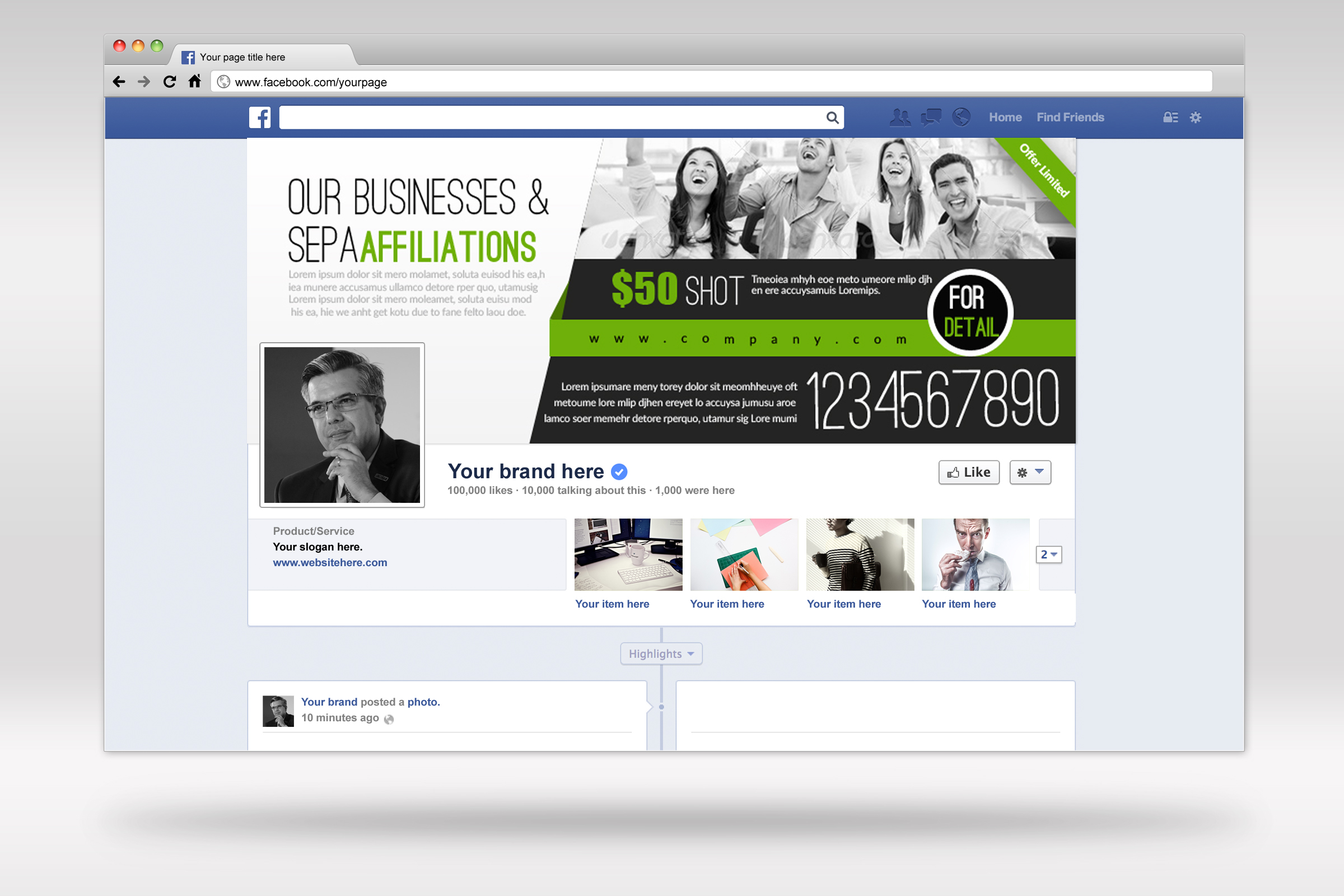 Corporate Facebook Timeline Cover example image 2