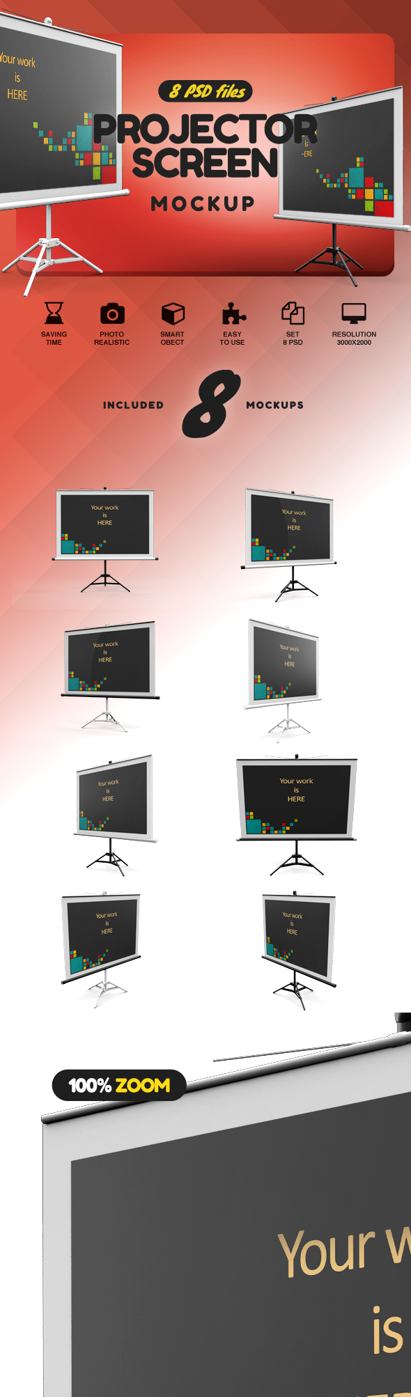 Projector Screen MockUp example image 2
