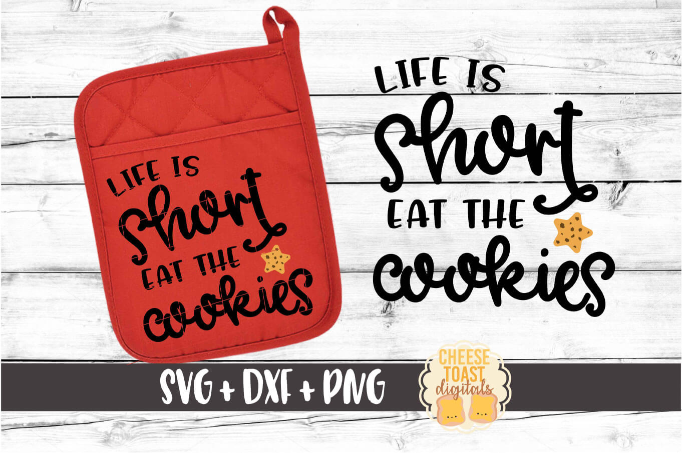 Pot Holder Bundle - Oven Mitt SVG PNG DXF Cut Files example image 4