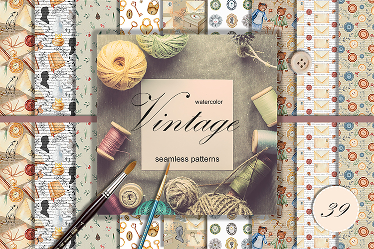 Vintage patterns collection example image 1
