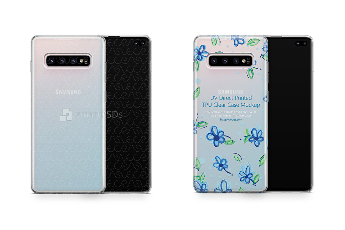Samsung Galaxy S10 Plus UV TPU Clear Case Mockup 2019 example image 1