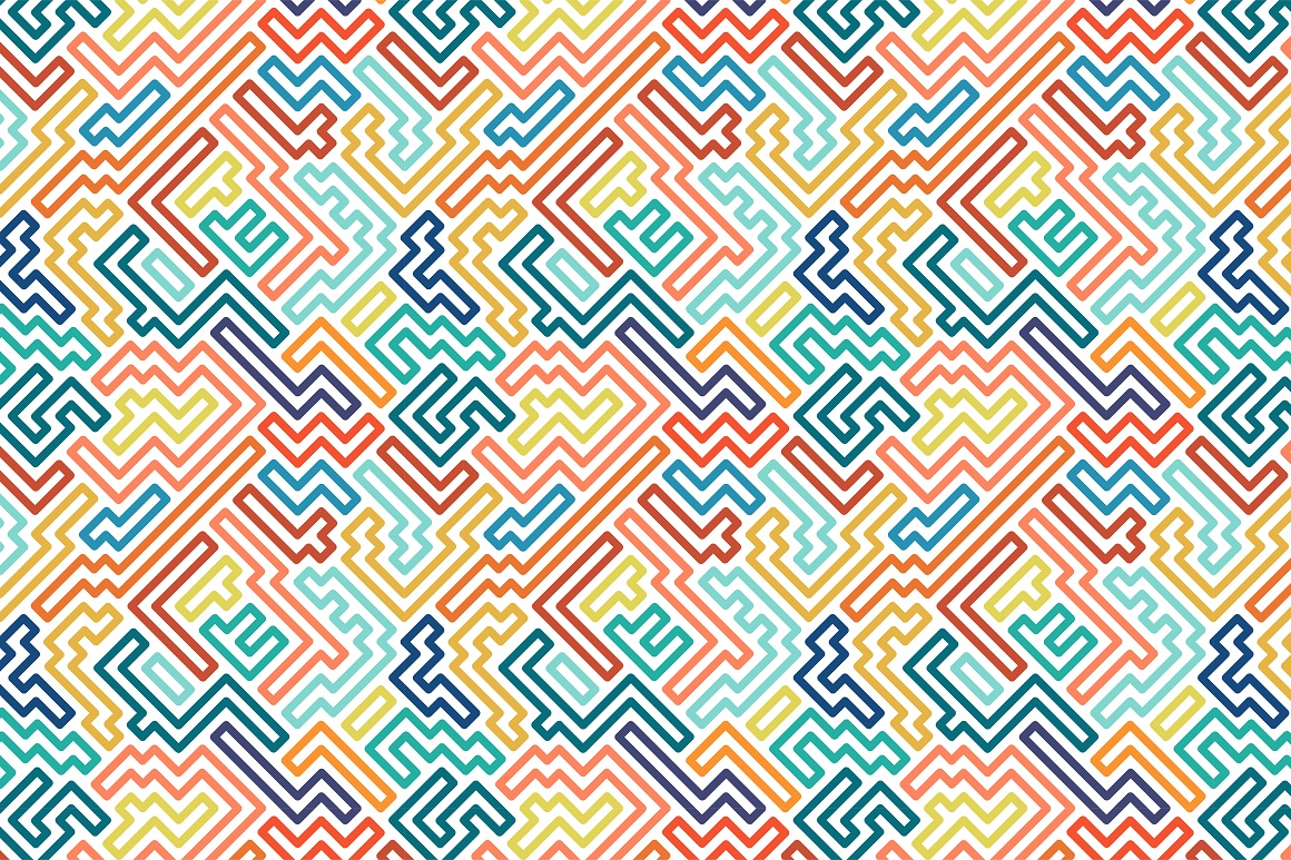Colorful seamless striped patterns. example image 17