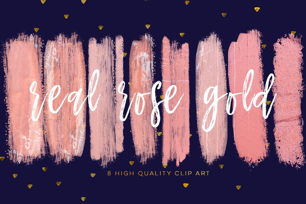 Blush pink brush strokes, rose gold DIY invitation, social media banner clip art, blog clip art, Instant Download, Photography clip art, example image 2
