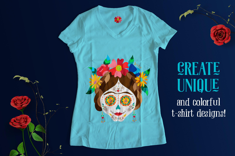 Dia de los Muertos Skull Collection example image 8