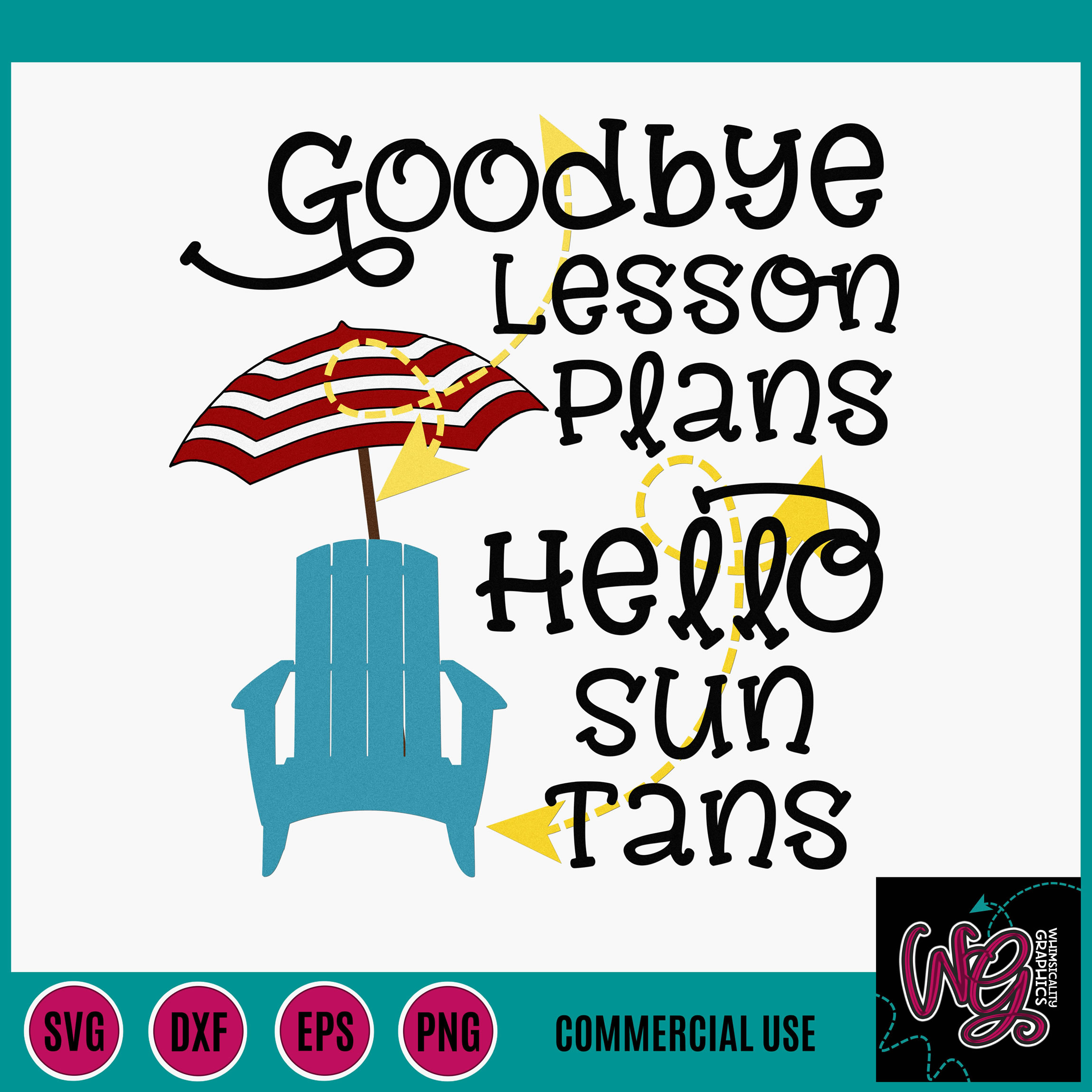 Goodbye Lesson Plans Teacher School SVG DXF PNG EPS Comm example image 2