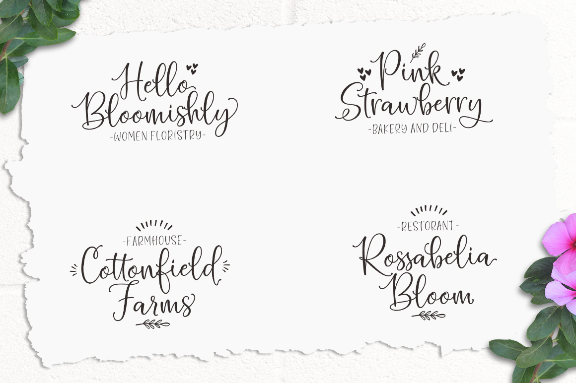 Hello Blushberry - Font Duo example image 2