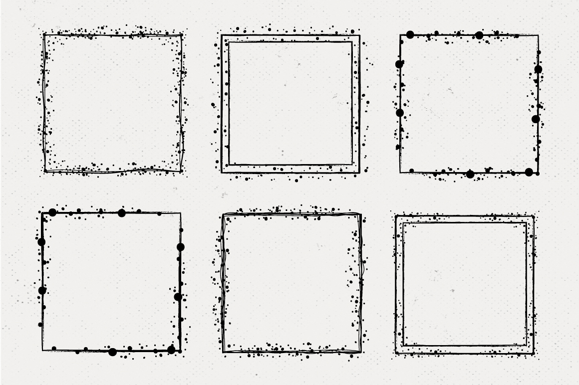 36 Hand Drawn Square Shapes - logo elements example image 4