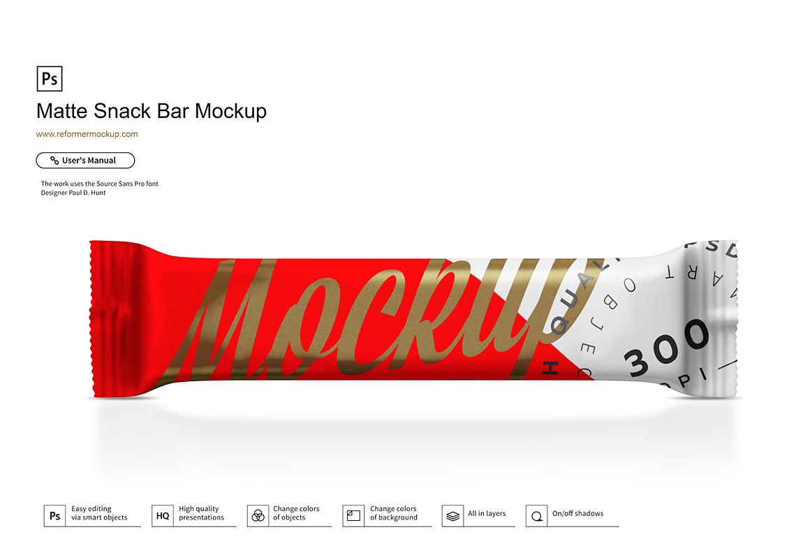 Matte Snack Bar Mockup example image 2
