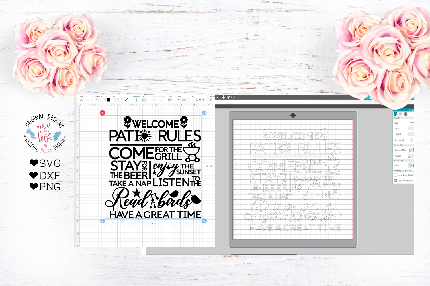 Patio Rules Cut File example image 2