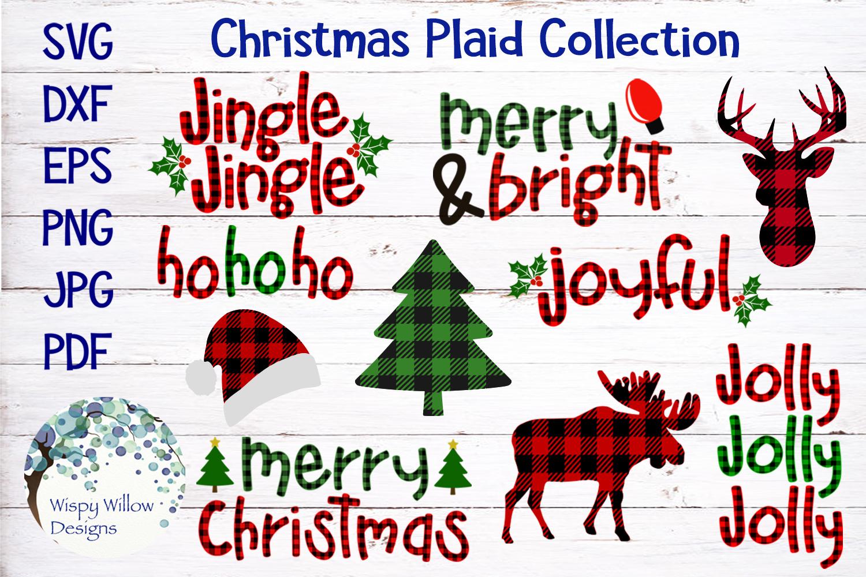 Buffalo Plaid Christmas Bundle SVG Cut Files example image 1