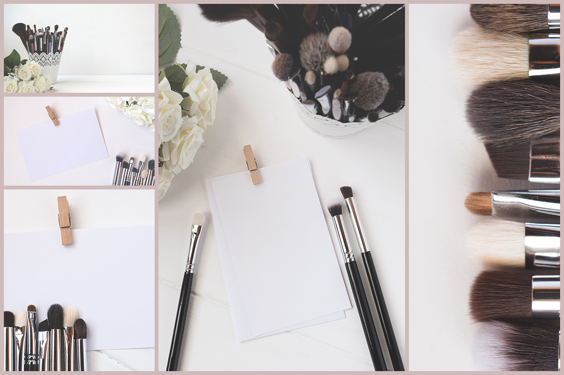 MAKEUP BRUSHES & CARDS BUNDLE example image 2