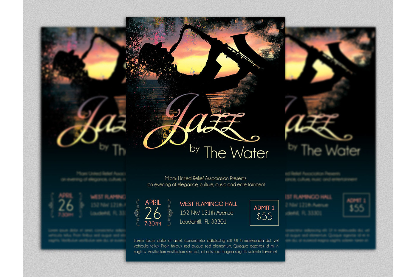 Jazz Concert Flyer Template example image 1