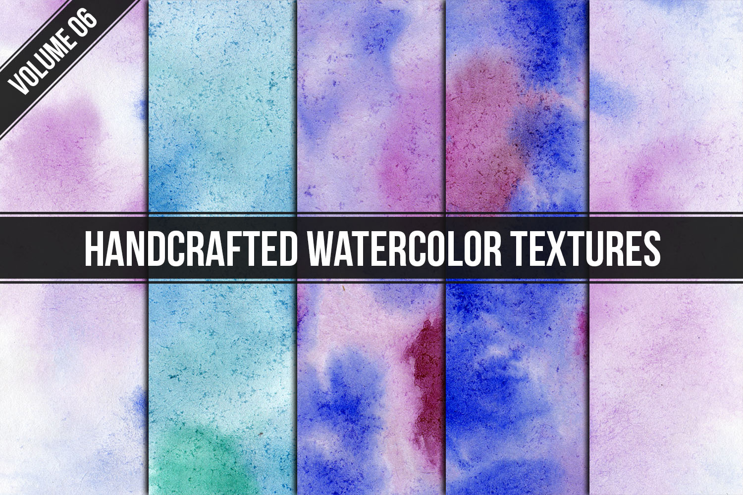 Handcrafted Watercolor Textures Vol. 06 example image 1