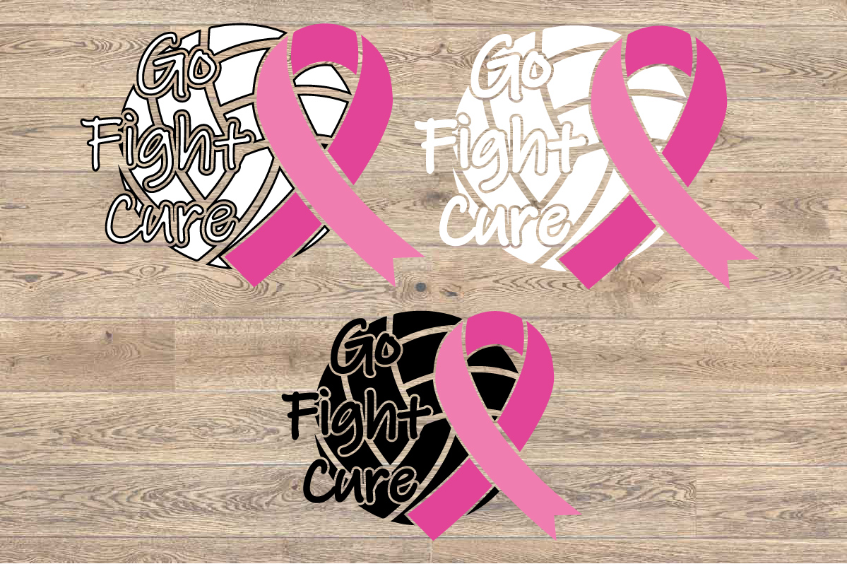 Go fight Cure Breast Cancer Cheer Volleyball Volley 1526s example image 2