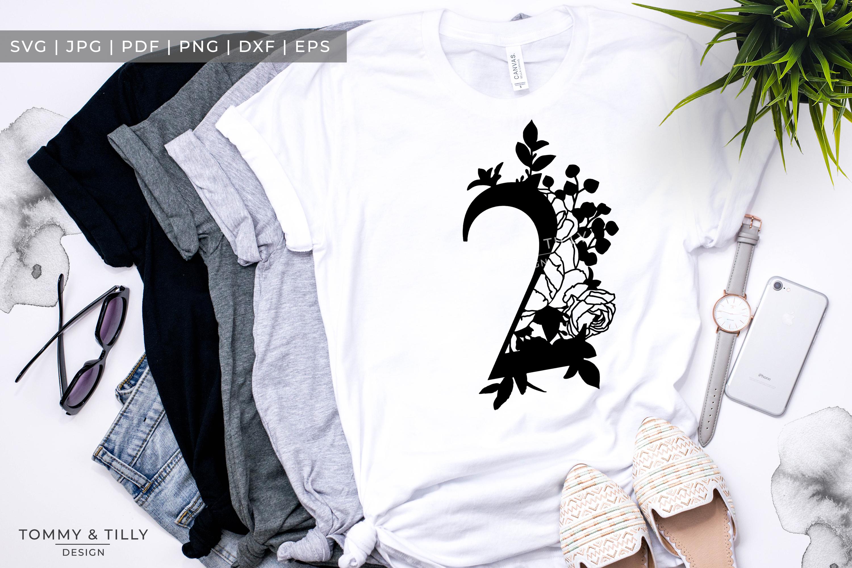 2 - Floral Bouquet Number Design - Paper Cut SVG EPS DXF PNG example image 3
