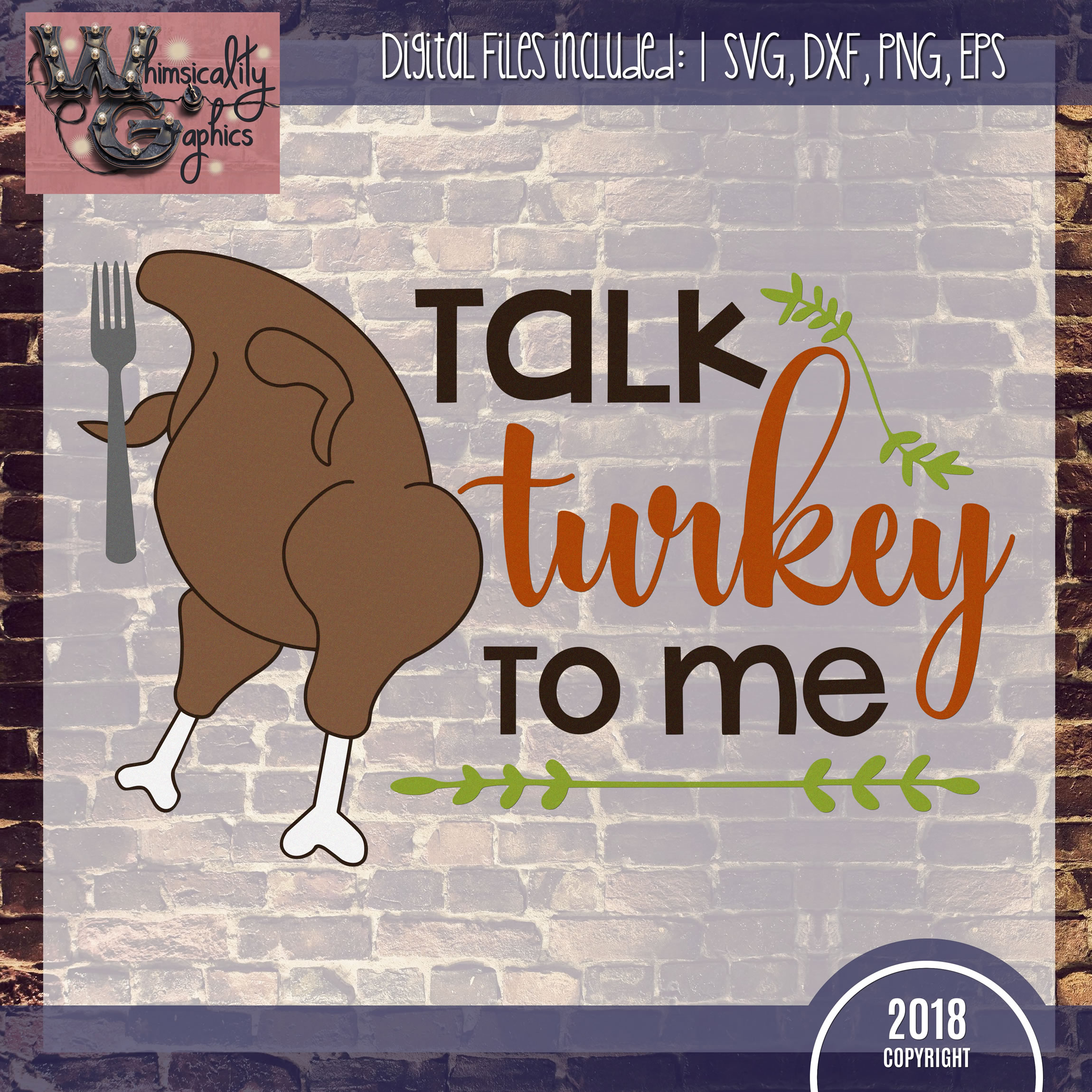 Talk Turkey To Me SVG DXF PNG JPG Comm example image 2