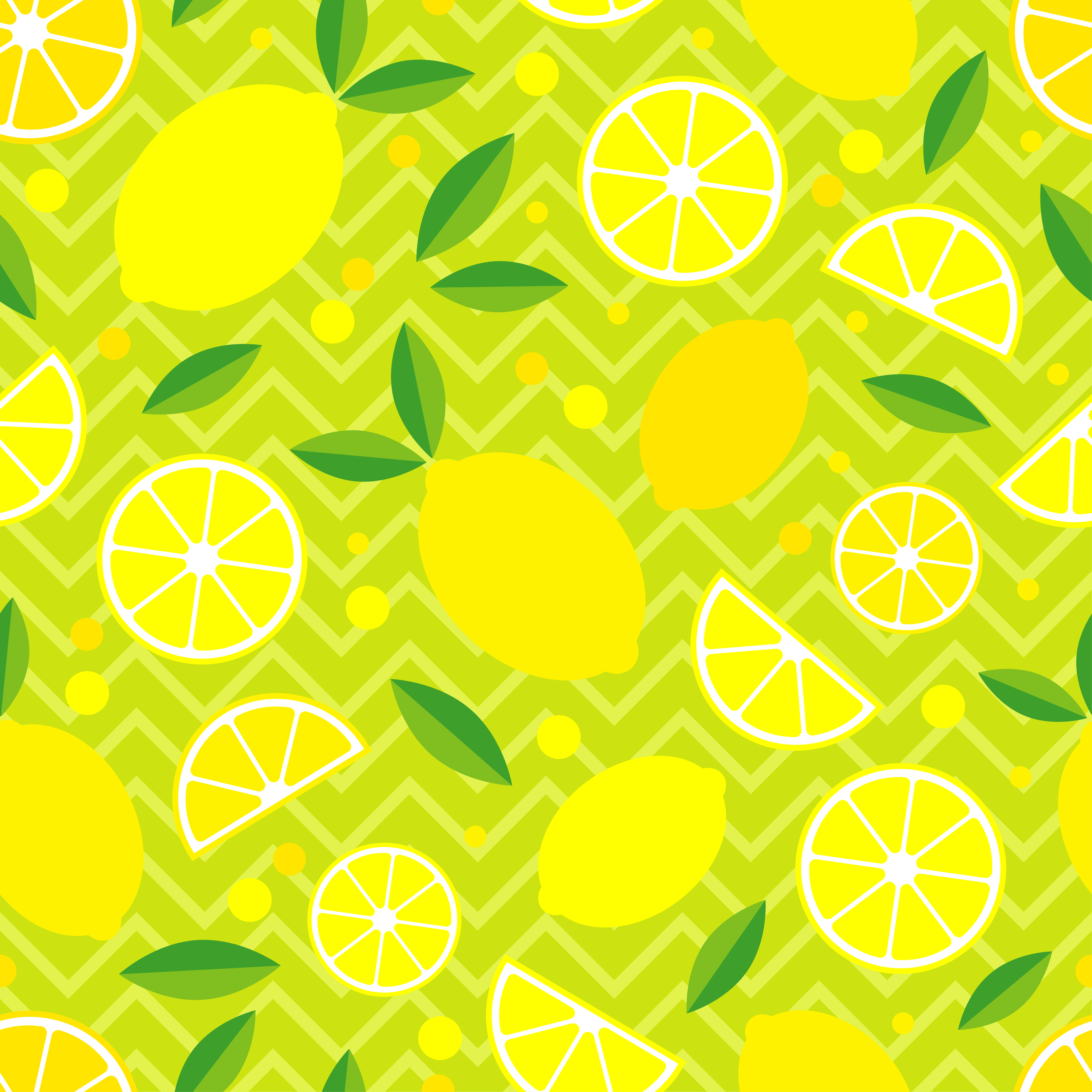 Seamless pattern with decorative lemons. Tropical fruits. Textile rapport.  example image 1