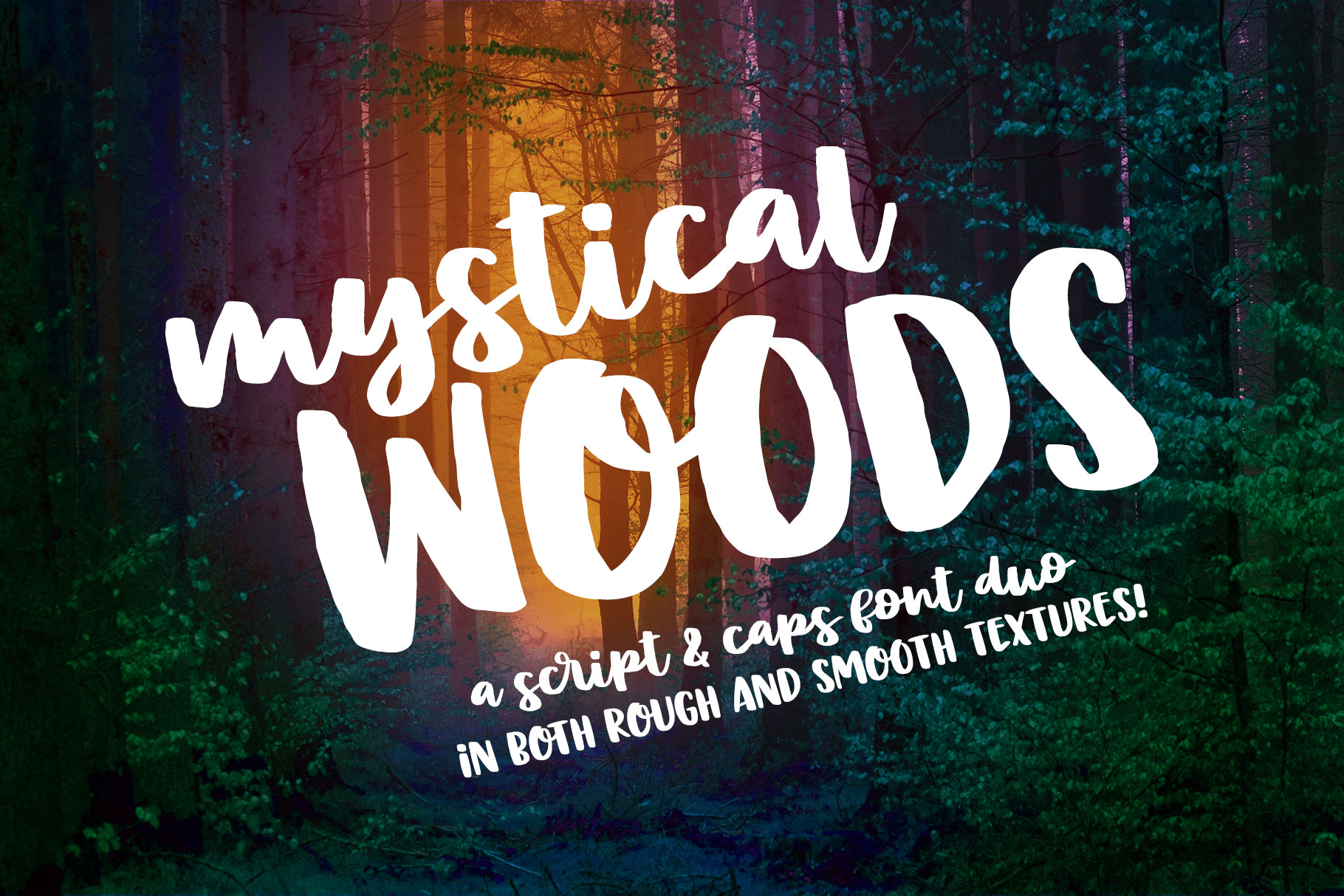 Mystical Woods - a script and caps duo! example image 1