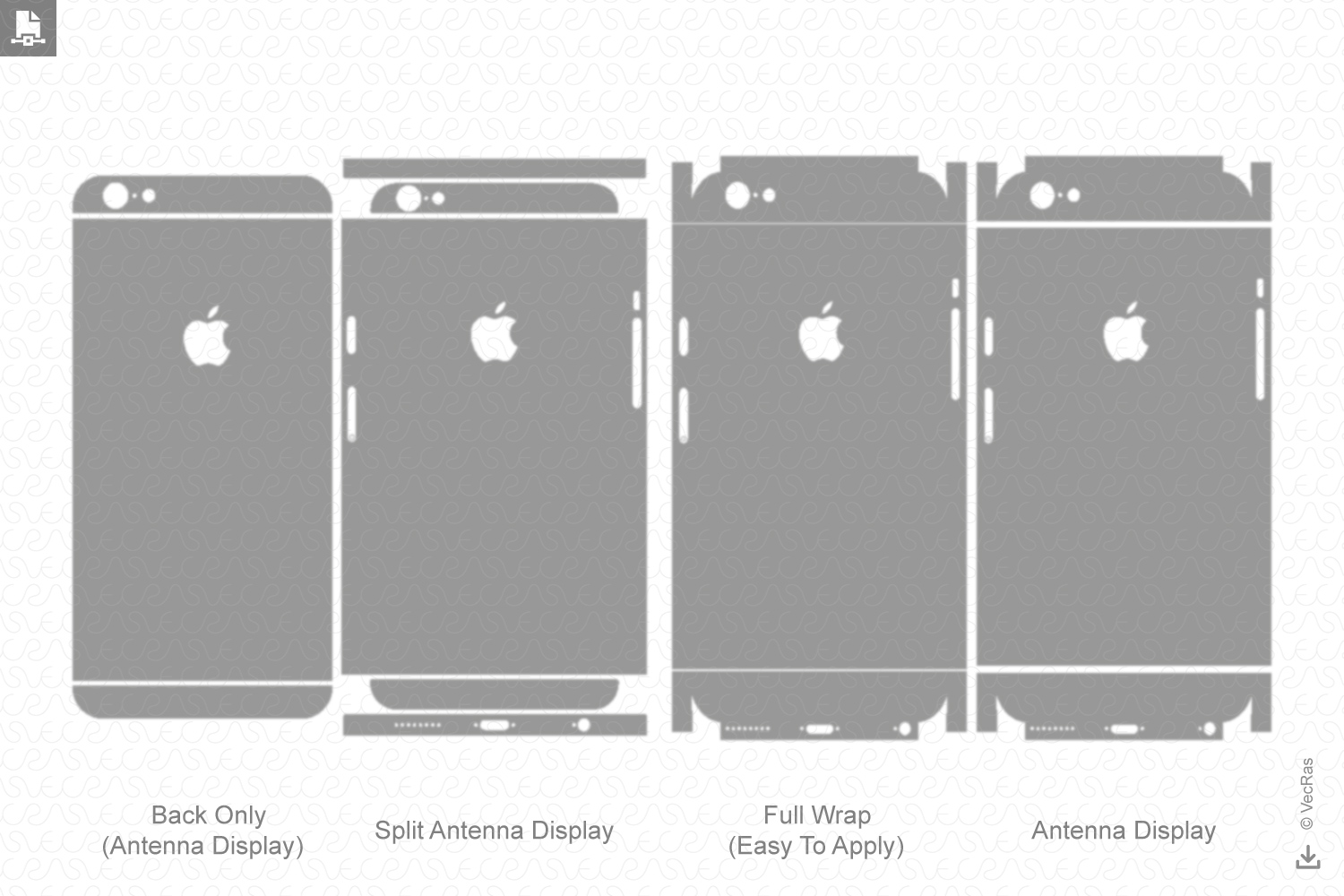 Apple iPhone 6S Decal Cut file Vector Template 2015 example image 2