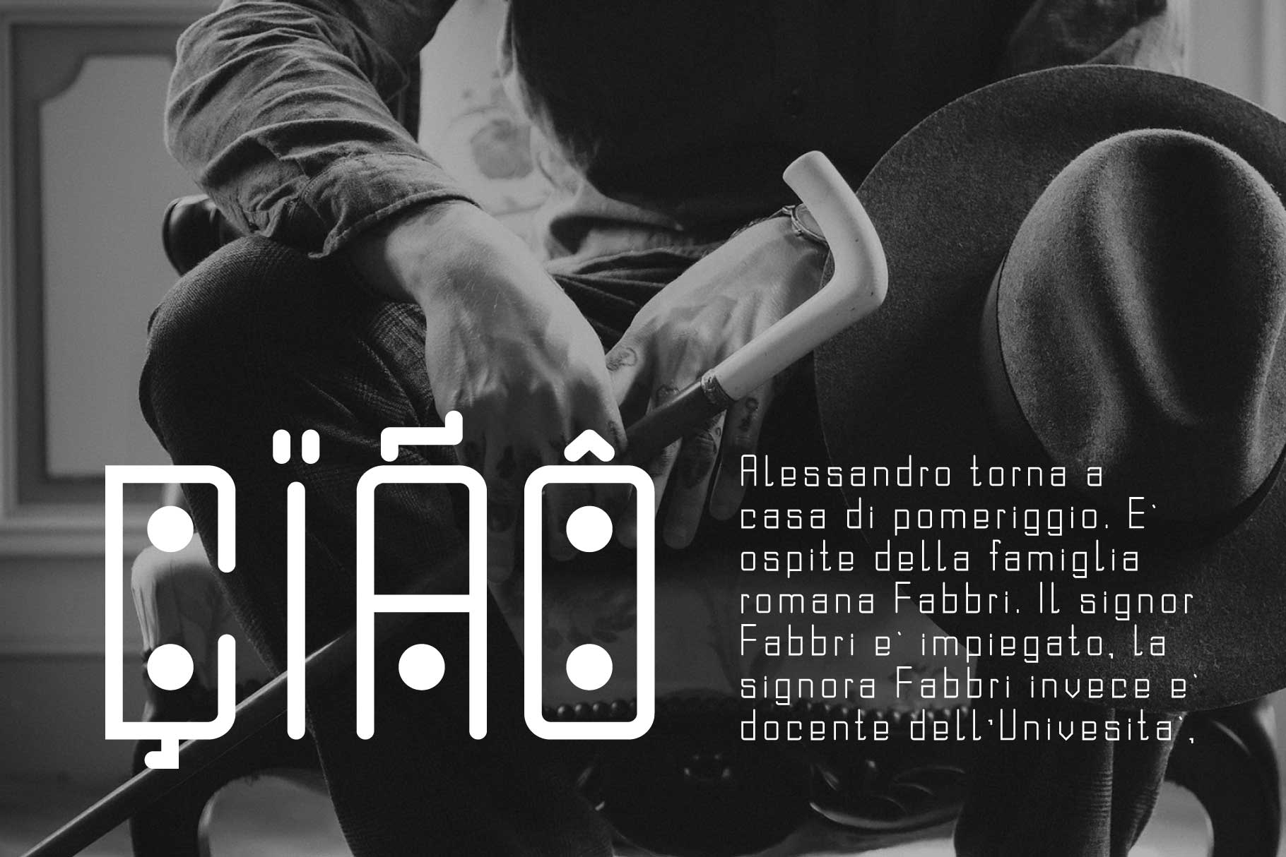 Domino-dot monospace san serif font duo example image 9