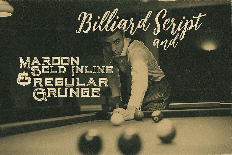 Billiard Font Duo example image 2