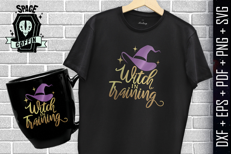 Witch In Training, Halloween, witch hat DXF/EPS/PDF/PNG/SVG example image 2