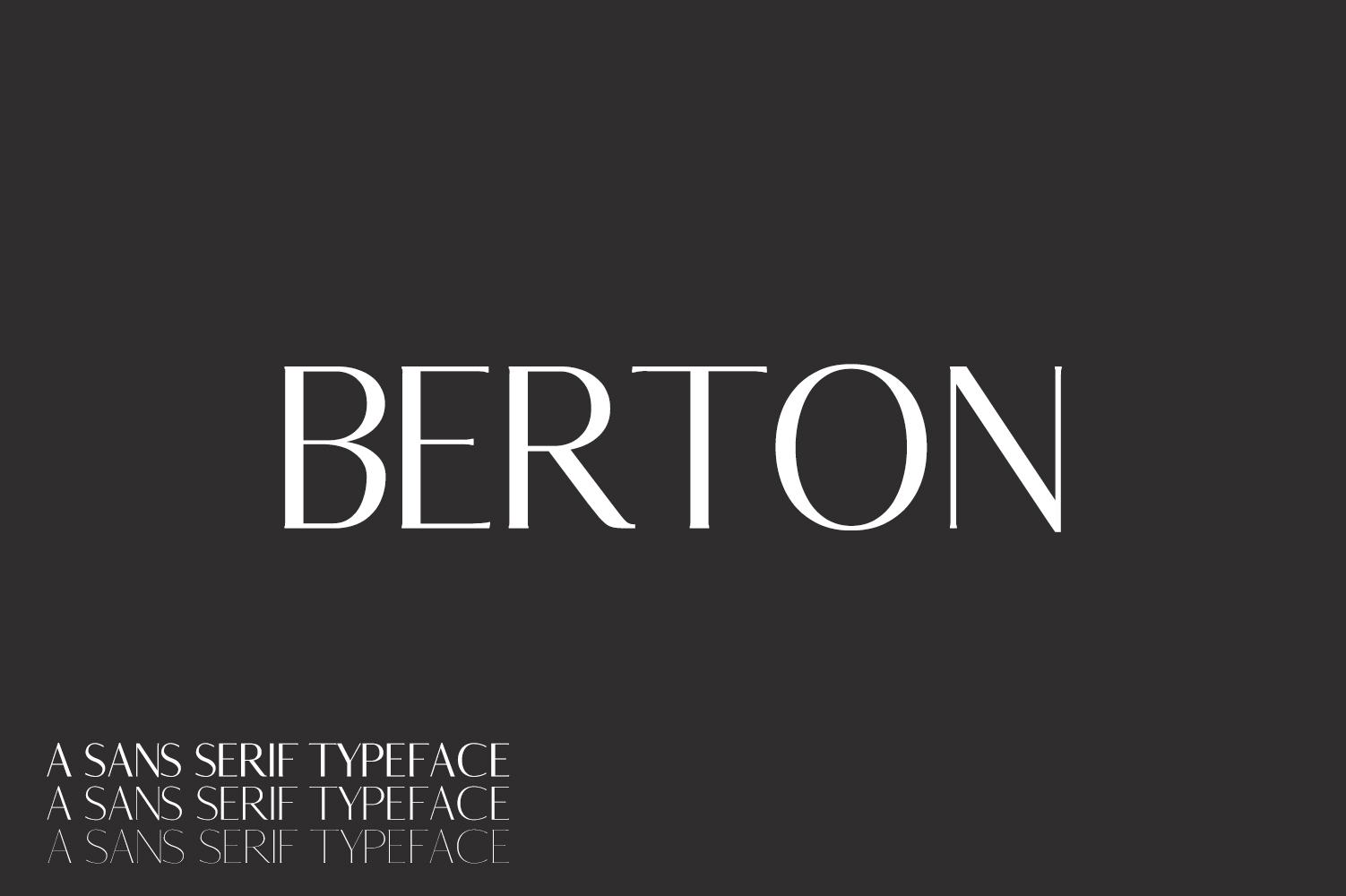 Berton Sans Serif Typeface example image 1