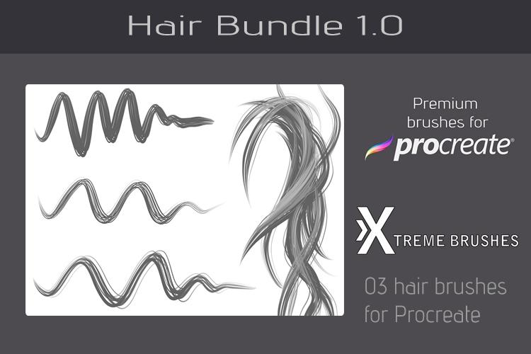 Procreate Hair Bundle example image 5