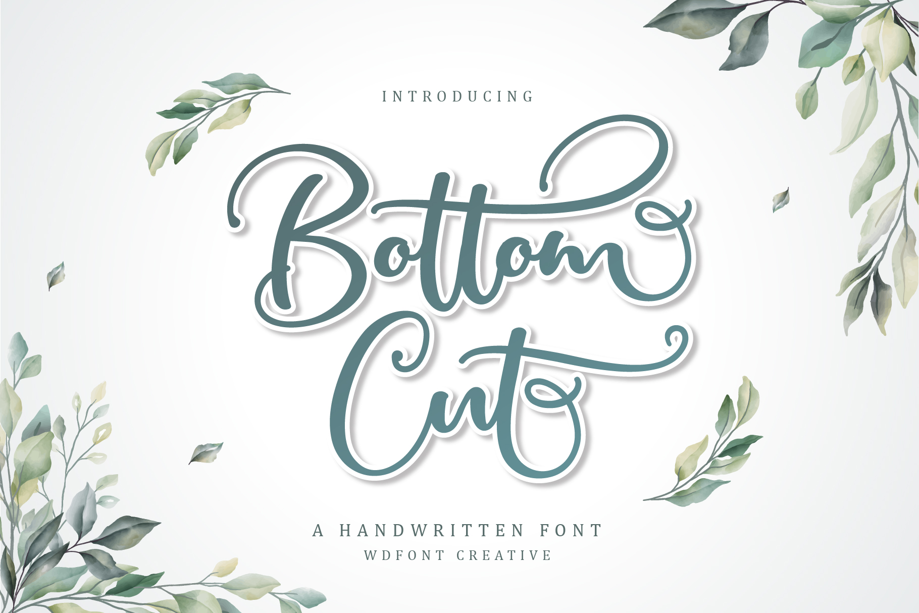 Bottom Cut Script | Modern Calligraphy example image 1