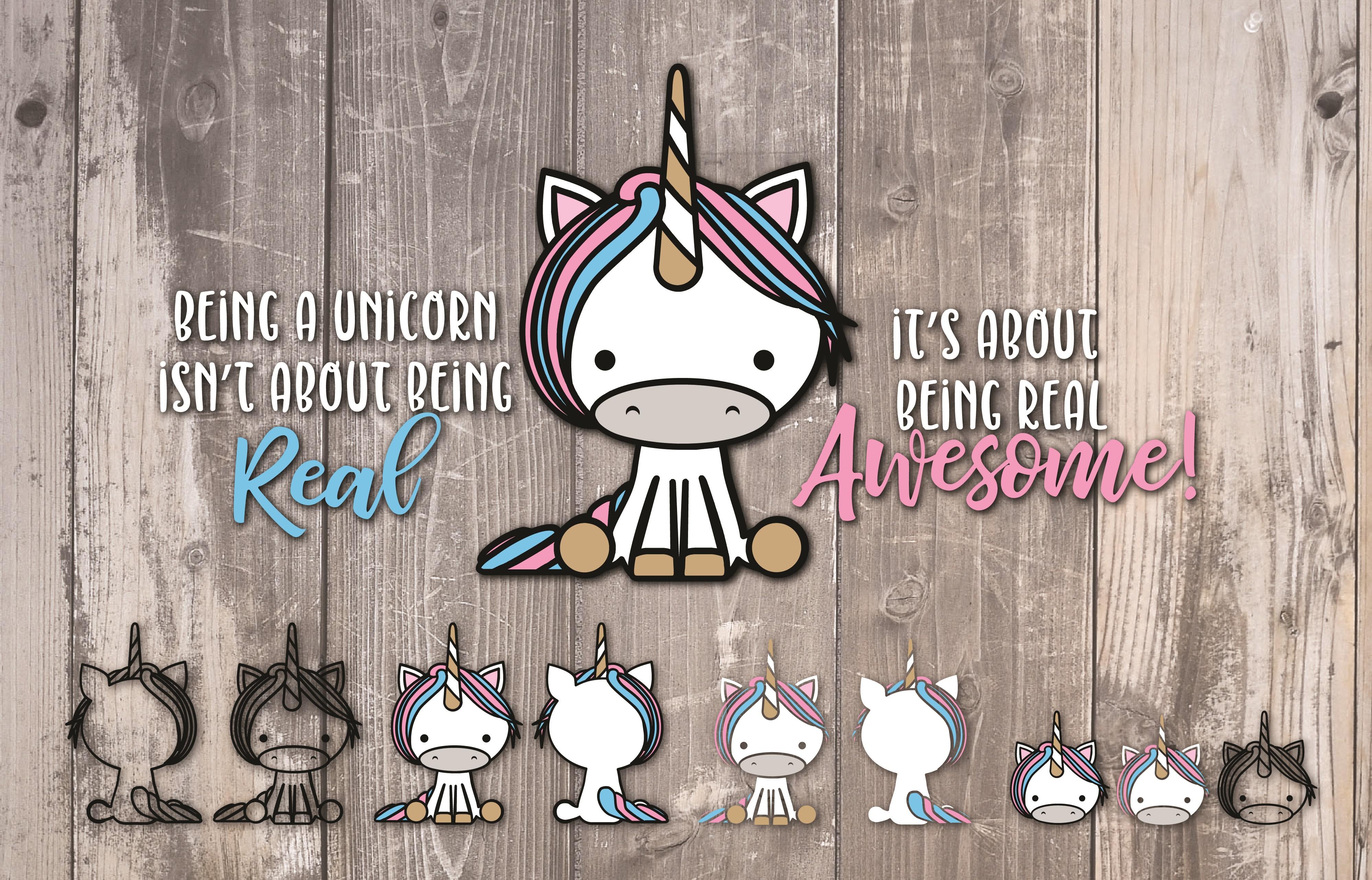 Unicorn, Fantasy, Pretend, Magical, cut file & more example image 1