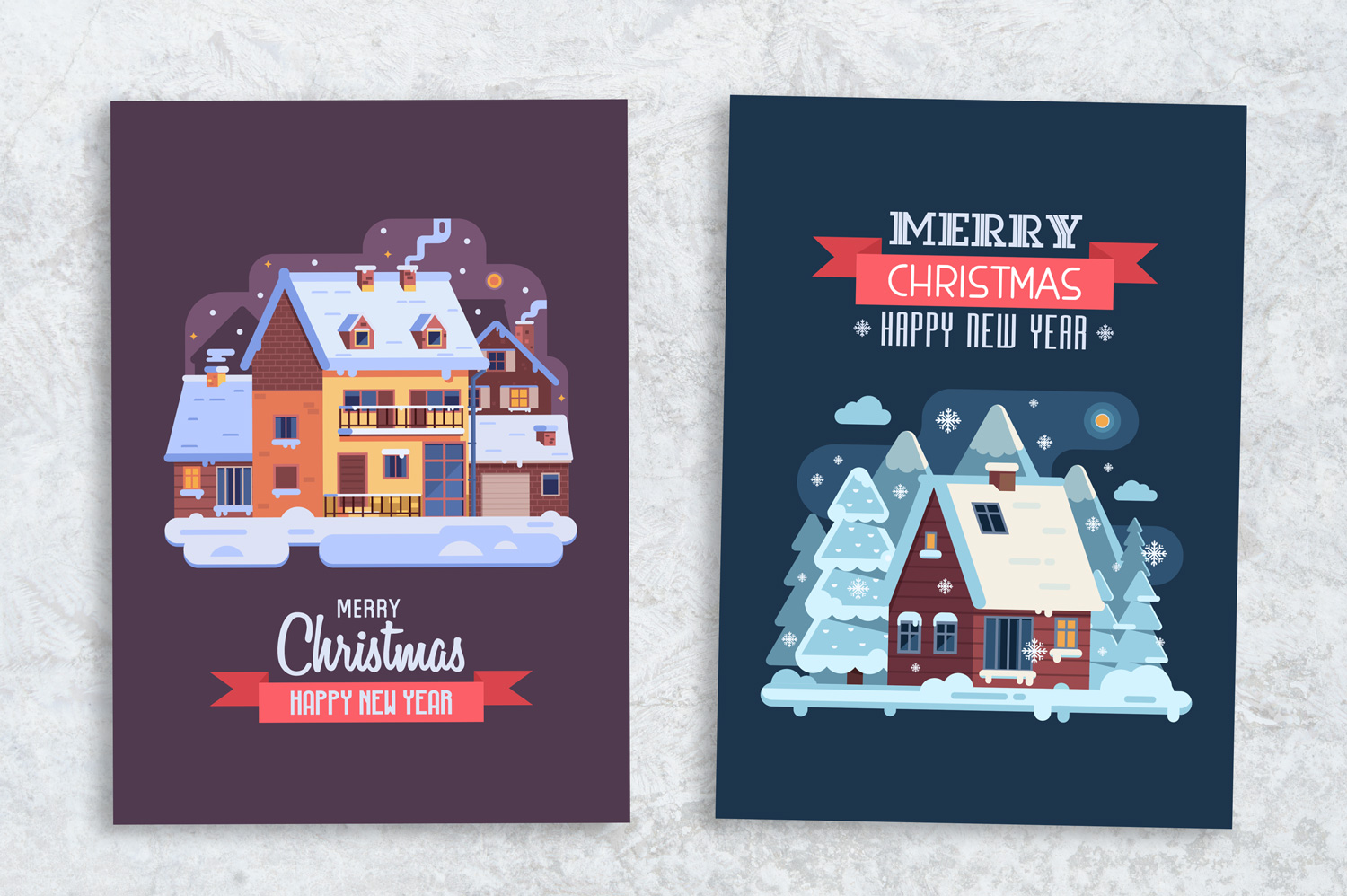 Winter Houses Christmas Cards example image 6