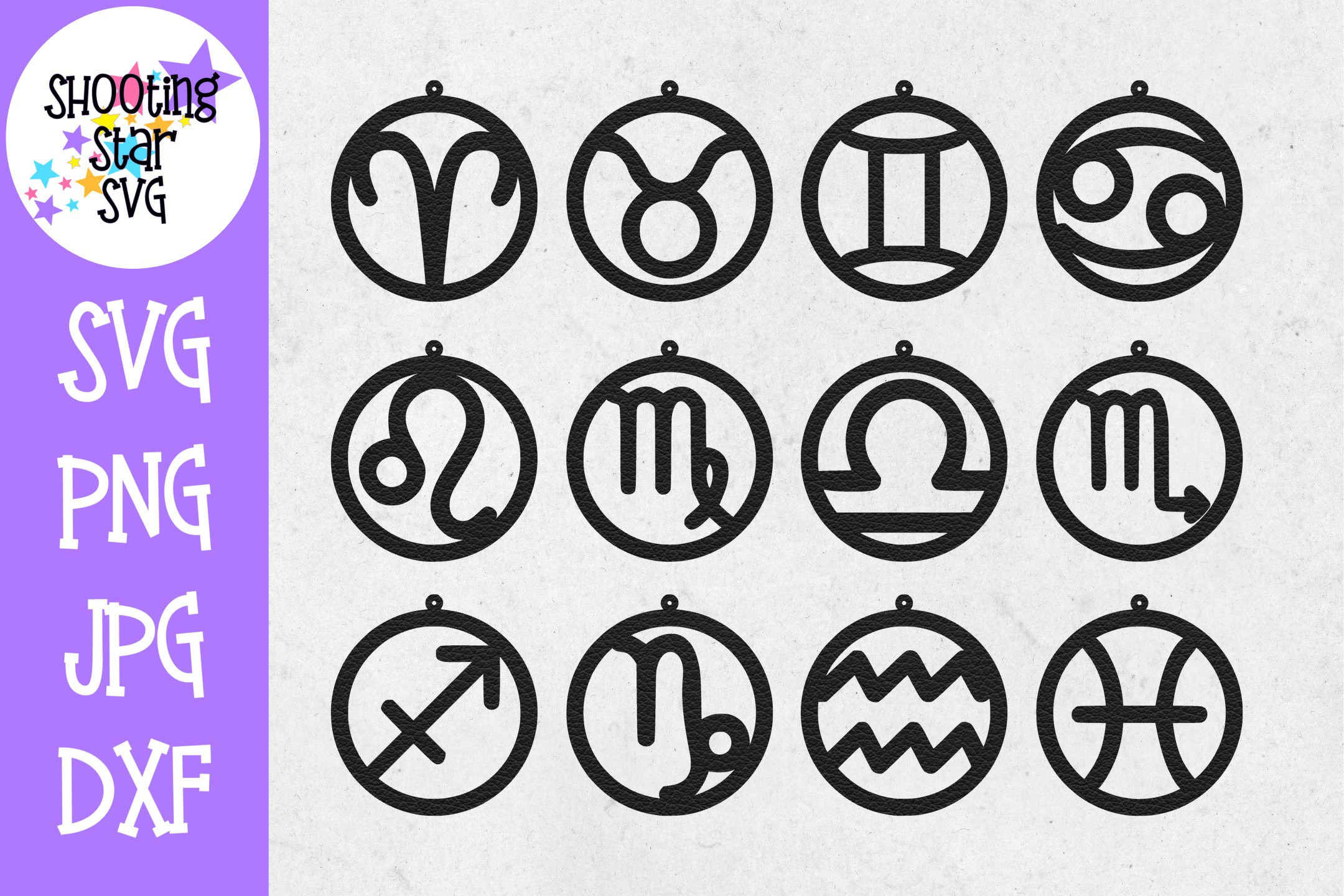 Astrology Earring SVG Template - Earring SVG - Zodiac SVG example image 1