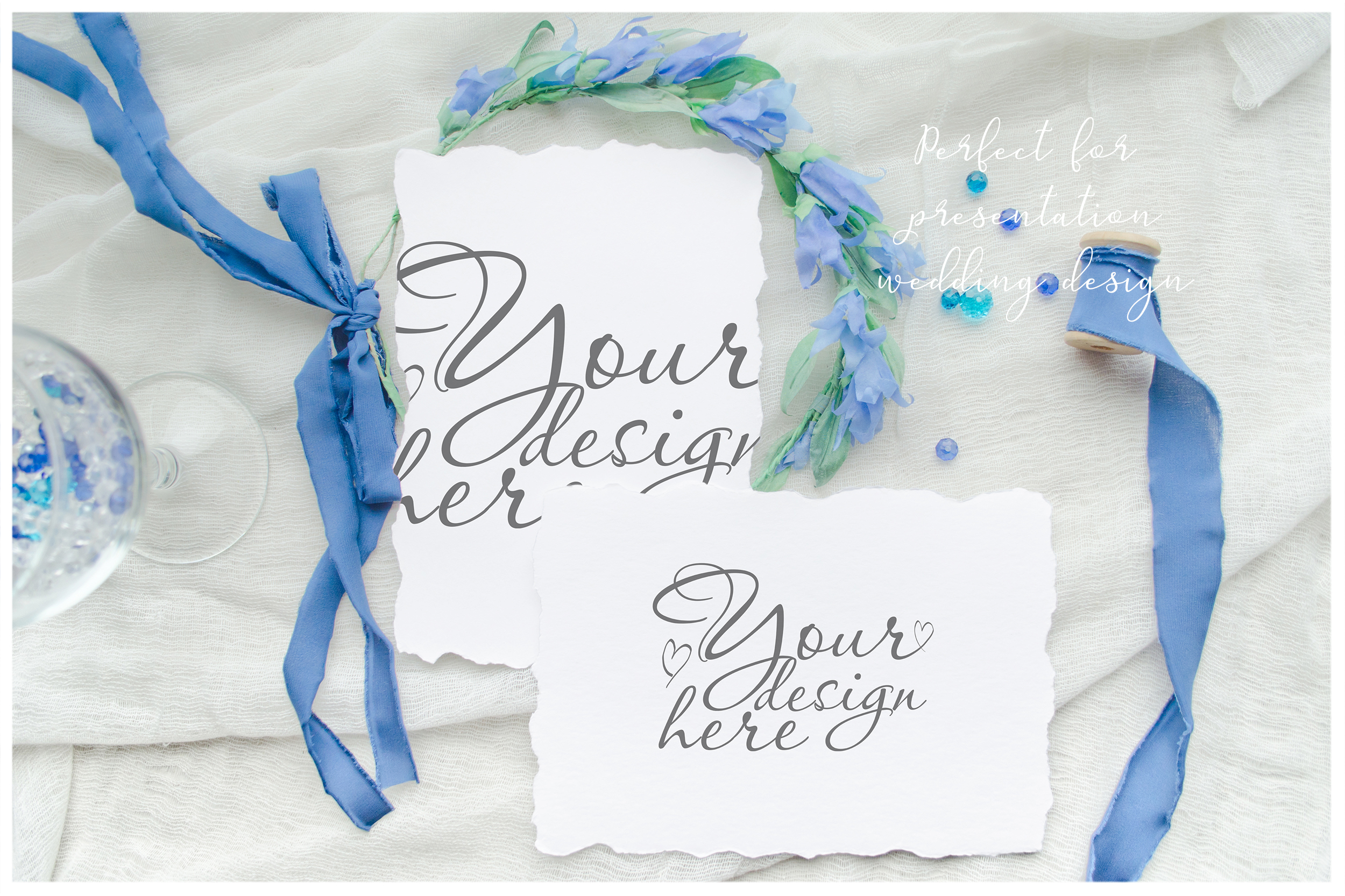 Something blue. Wedding mockups & stock photo bundle example image 8