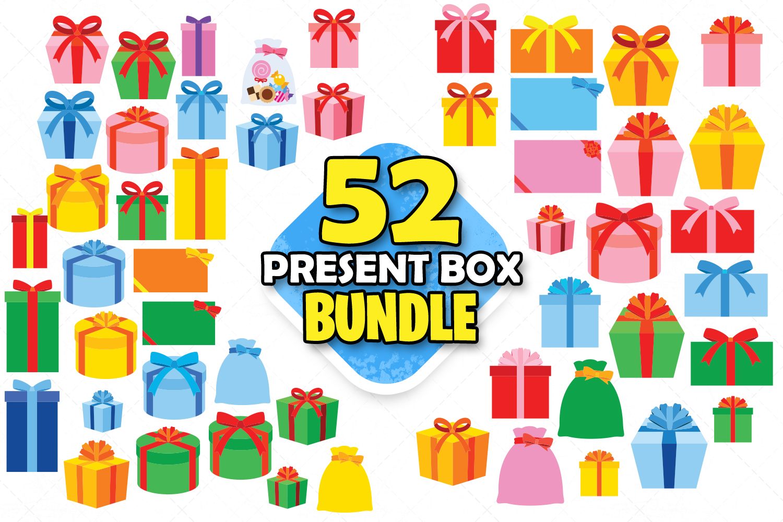 Present Box Clipart Gift Box Svg Unique Birthday Present Dxf