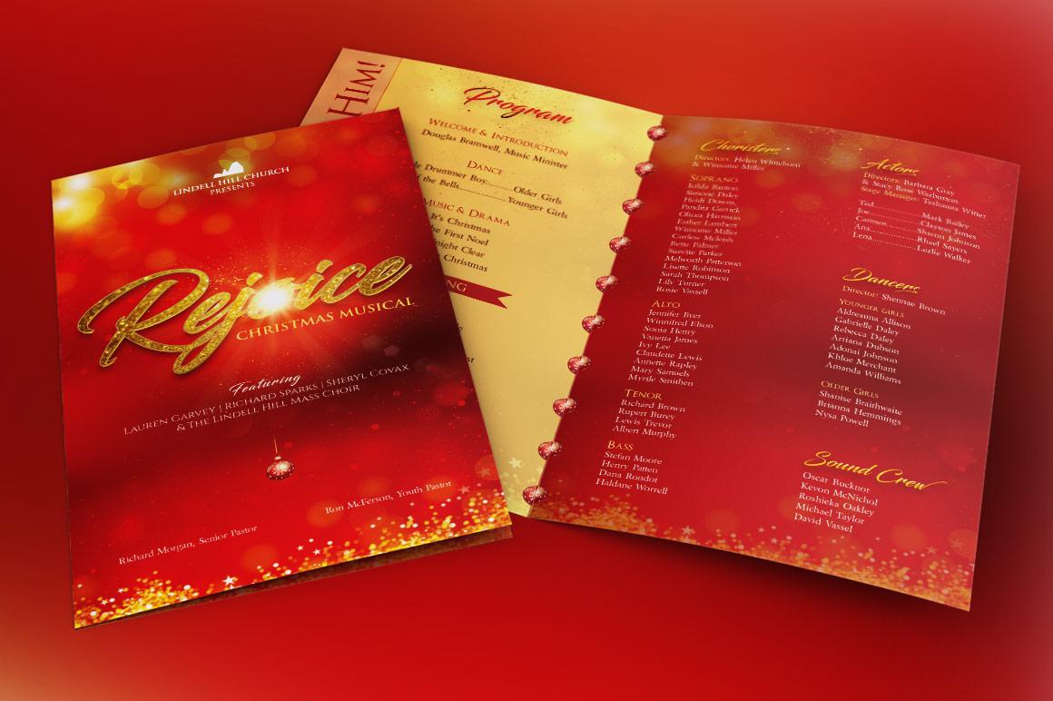 Rejoice Christmas Cantata Program Template example image 3
