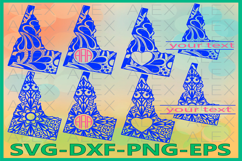 Idaho State SVG, Idaho Monogram SVG, Idaho Mandala Svg example image 1