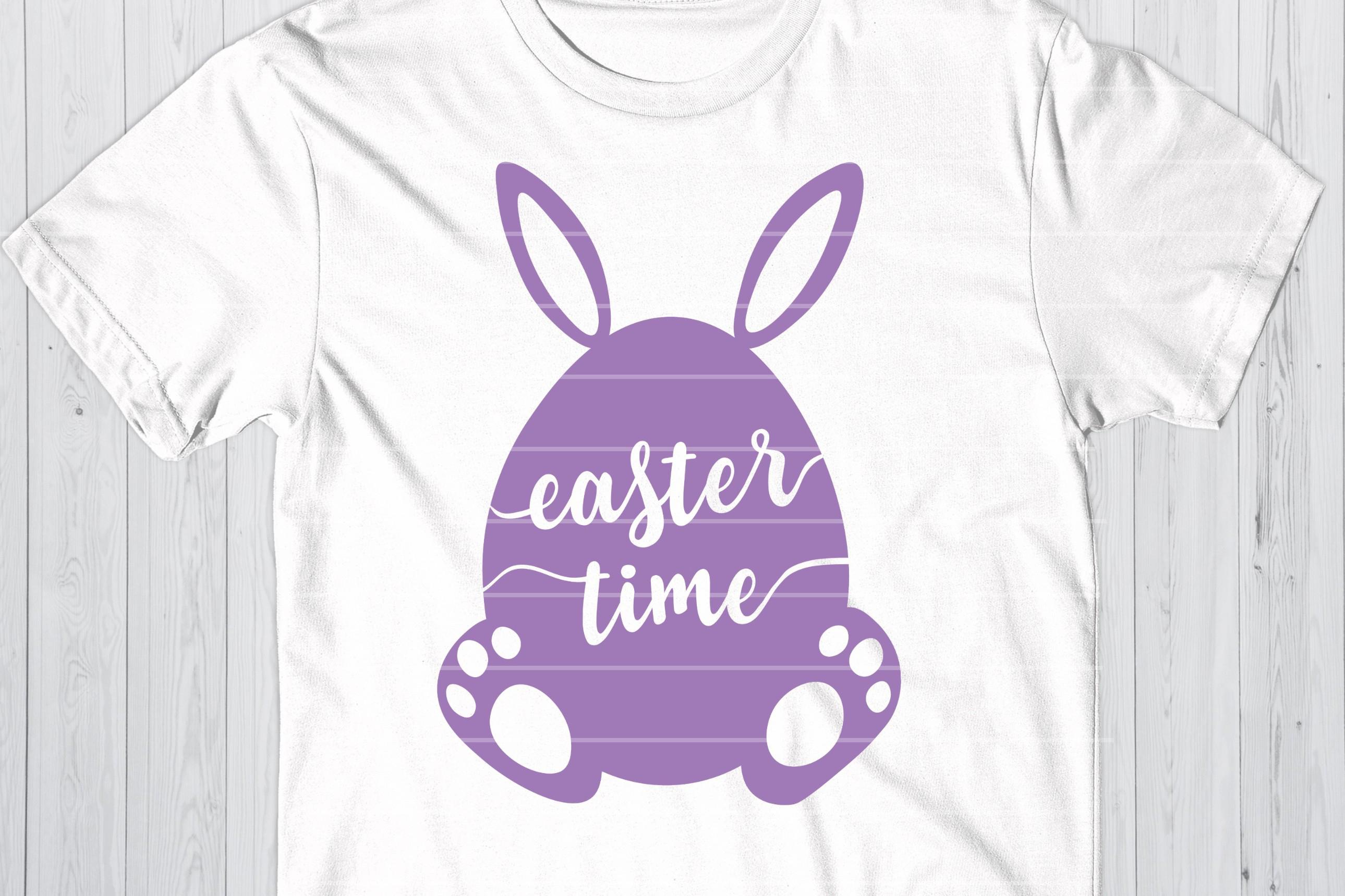 Easter Time SVG, Easter Bunny Cut File, Easter Egg SVG example image 1