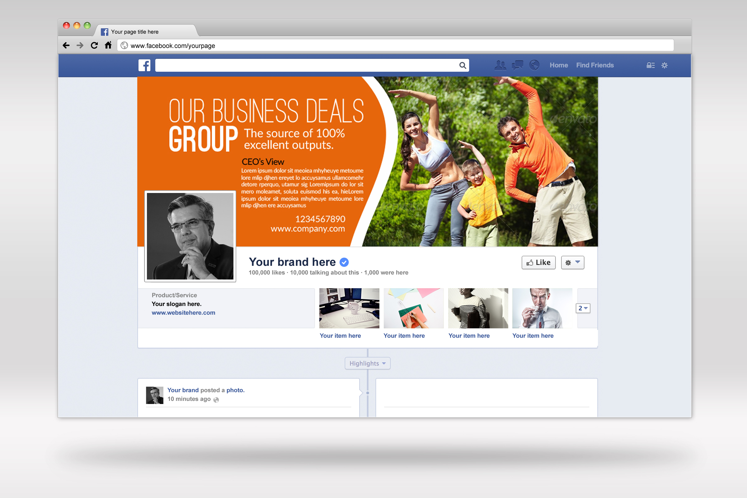 Multi Use Business Facebook Timeline Cover example image 3
