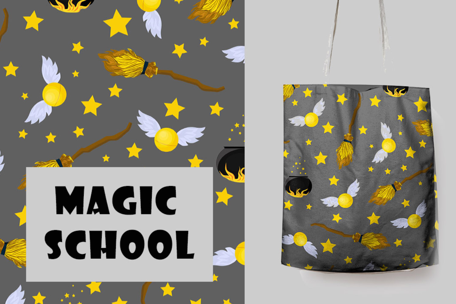 School of Magic Pattern Set Theme - Harry Potter, Hogwarts example image 4