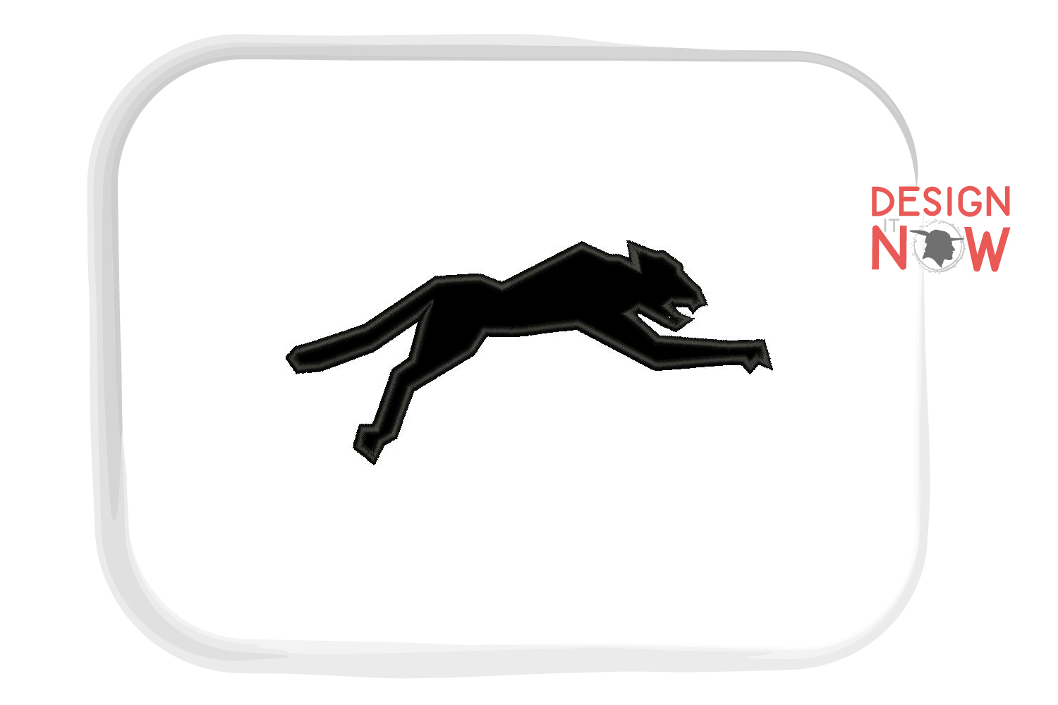 Panther Applique Embroidery Design, Puma Embroidery Pattern example image 4