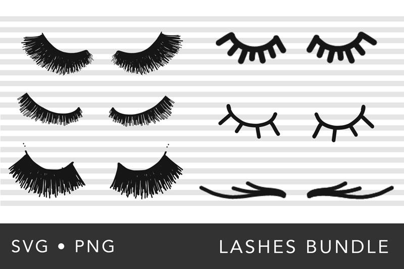 Eye Lashes SVG Bundle example image 2
